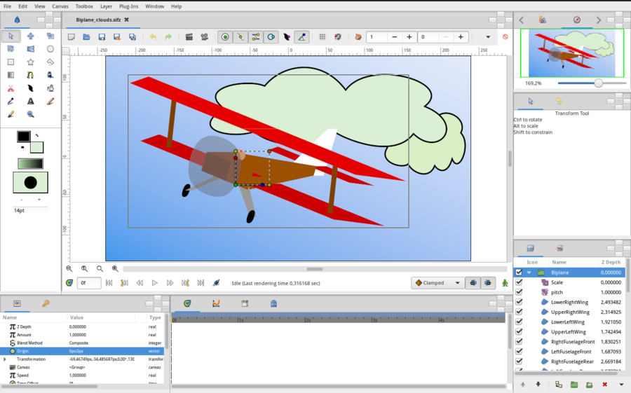 Interface - Synfig Animation Studio